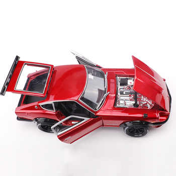1:18 Simulation alloy sports car model For Nissan Datsun 240Z with Steering wheel control front wheel steering toy for Children