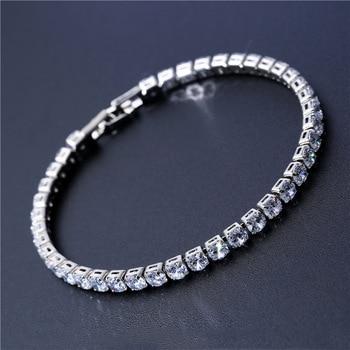 Cubic Zirconia Tennis Bracelets Iced Out Chain Crystal Wedding Bracelet 1