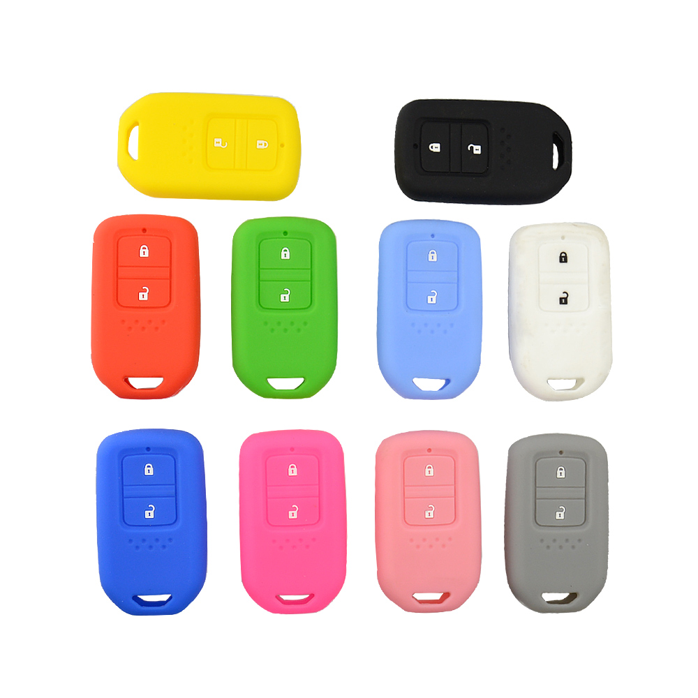 3 Buttons Portable Colorful Silicone For VW Car Key Cover Controller Case