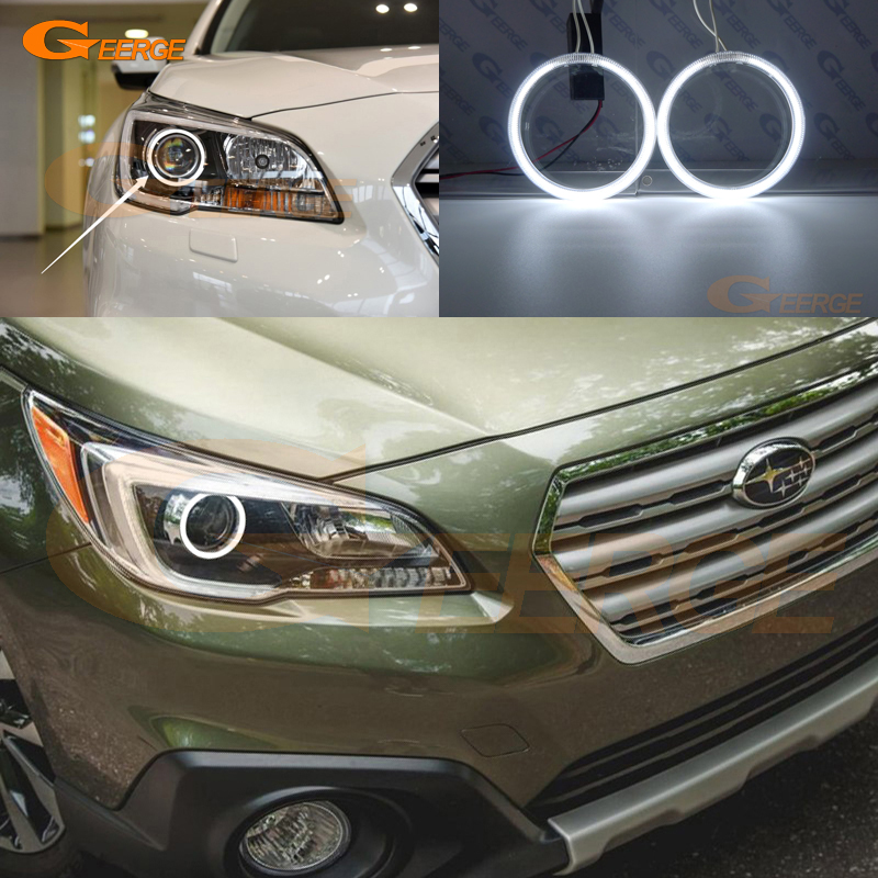 For Subaru Outback 2015 2016 2017 Xenon headlight Excellent Angel Eyes Ultra bright illumination CCFL Angel Eyes kit Halo Rings free shipping super bright ccfl angel eyes halo rings kit for bmw e83 x3 auto headlight 4 rings 2 waterproof inverters page 7