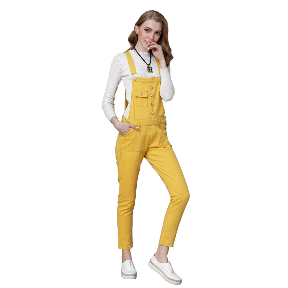 0f8717ffac8f LORDXX Yellow Jumpsuit Women Denim Overalls for women Summer 2018 Femme  Elegant 4XL Plus size Rompers Womens jumpsuit Clothing-in Jumpsuits from  Women s ...