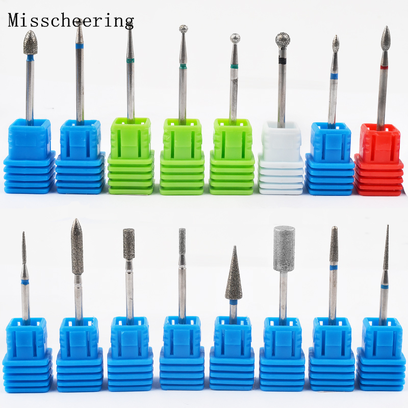 1pcs Tungsten Carbide Nail Art Drill 17types 3/32 Milling Manicure Cutter For Pedicure Electric Device Machine Tools Deburring