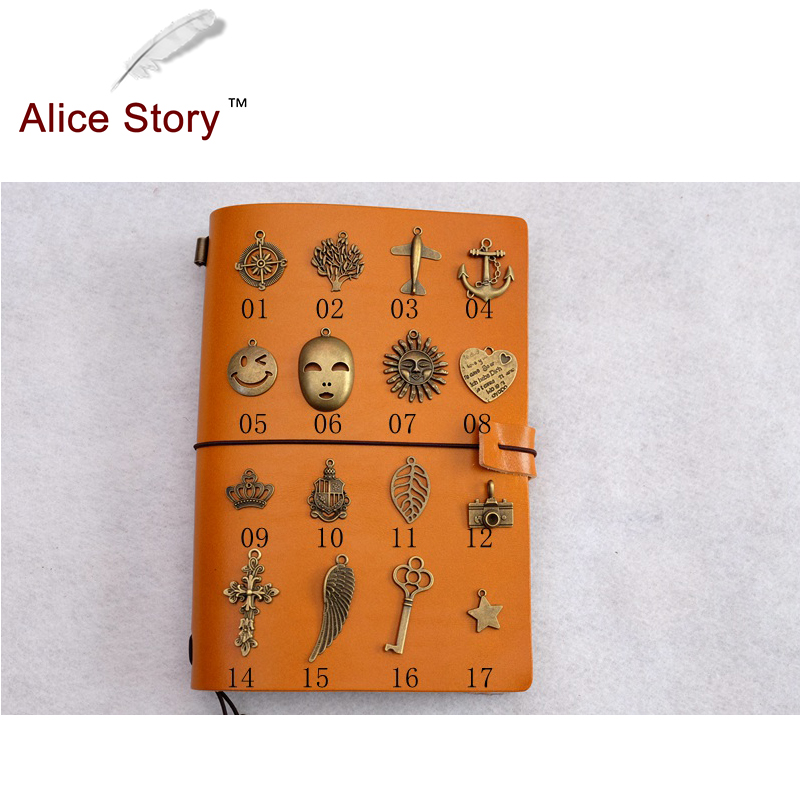 Alice Story High Quality Bookmark Vintage Metal Pendant Bronze Diy Charm Star Signs Astro Citation Bookmarks Pendant