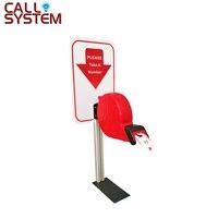 Ticket Dispenser Kolom Elektronische queue management oproepsysteem met papier roll