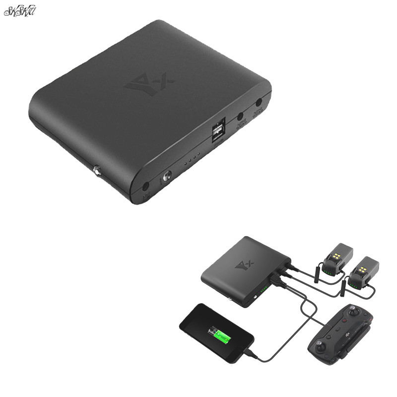 4in1 Drone Mobile Power Battery Charger usb port Remote Controller Charging Bank For DJI Mavic spark Drone Accessories spark storage bag portable carrying case storage box for spark drone accessories can put remote control battery and other parts