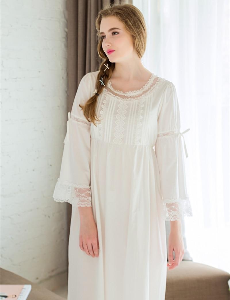 49124f4940 Las mujeres Ropa de Dormir Batas Vestido Casual Para Dama Cuello Redondo  ropa de Dormir de Encaje Rosa Blanco Color Nightgowm Fibra De Viscosa en  Camisones ...