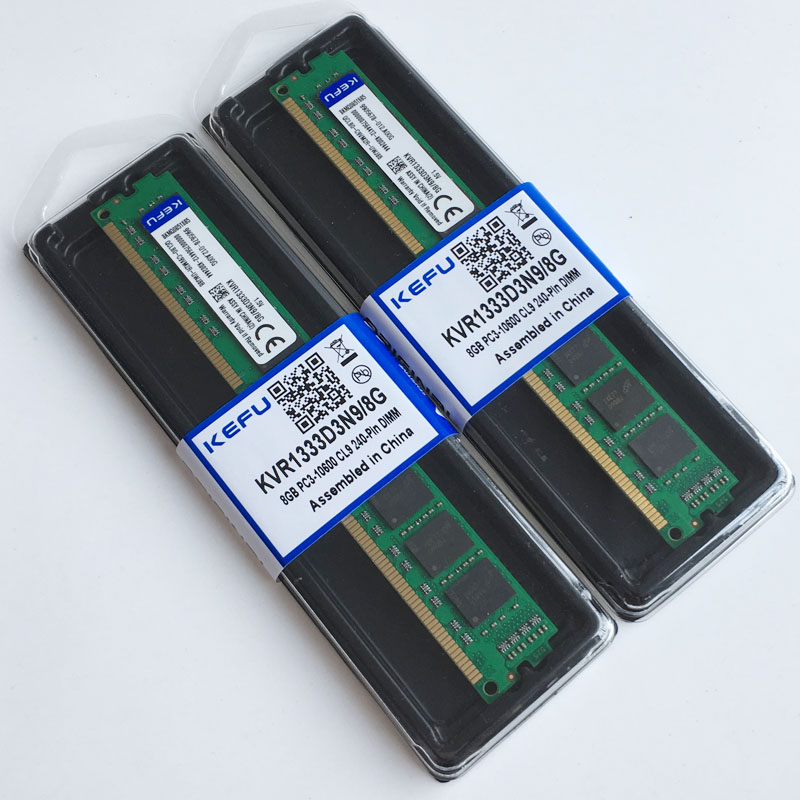 16 ГБ 2x8 ГБ ddr3 pc3 10600 1333 мГц Desktop памяти Оперативная Память DIMM 240 Pin 16 г 1333 мГц низкой плотности cl9 Non ECC Бесплатная испытания