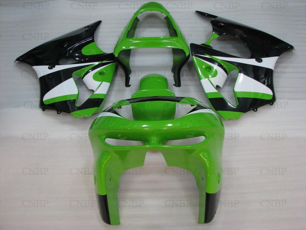 Body Kits for Kawasaki Zx6r 1999 Fairings 636 Zx-6r 1998 1998 - 1999 Green White Black Motorcycle Fairing Ninja Zx-6r 1999