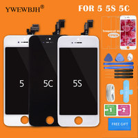 YWEWBJH AAA LCD Screen For IPhone 5 5C 5S Display Touch Assembly Digitizer Glass No Dead