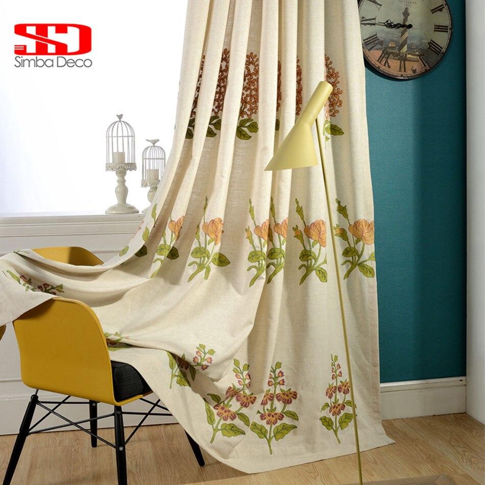 Tende di lusso in tessuto di cotone di lino oscuranti per tende per - Tessili per la casa