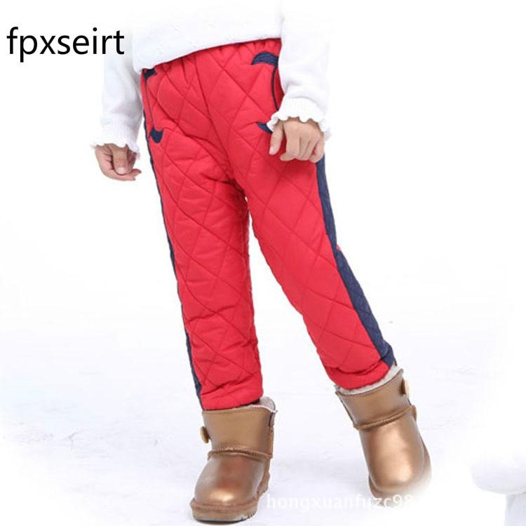 fpxseirt Winter children warm girls trousers boys pants