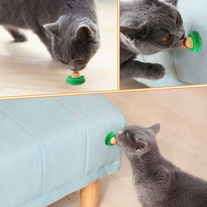 Pet Cat Sugar Energy Ball Lick Toys Catnip Power Up Nutrition