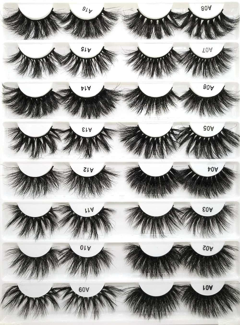 73ac590888d Length 25mm mink lashes extra Long 3Dmink eyelashes Big dramatic  Criss-cross Strands Lashes Natural