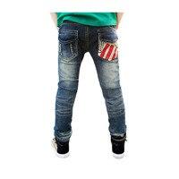 Kids Brand Jeans Spring Children Clothes 2017 Children Autumn New Children Slim Long Pants Trousers Toddler