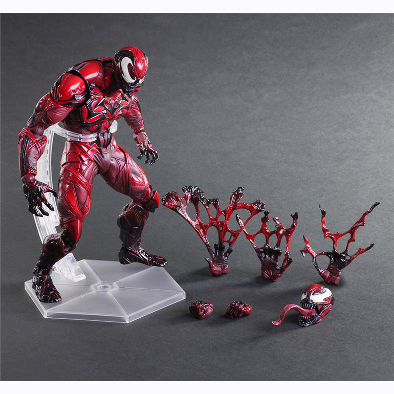 XINDUPLAN Marvel Shield Play Arts Kai Venom Edward Eddie Brock Red Ver. B Avengers Action Figure Toys 23cm Collection Model 0850 xinduplan marvel shield iron man avengers age of ultron mk45 limited edition human face movable action figure 30cm model 0778