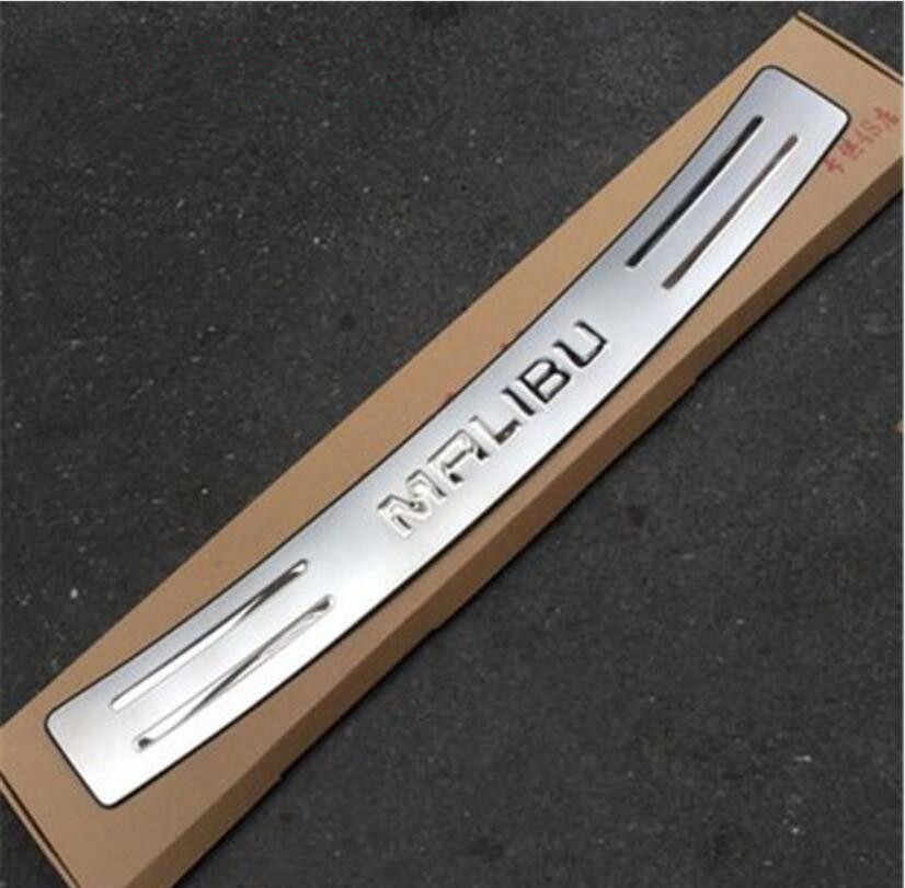 Stainless Steel external Rear Bumper Protector Sill Trunk Tread Plate Trim for Chevrolet Malibu 2012- 2015 Car Styling