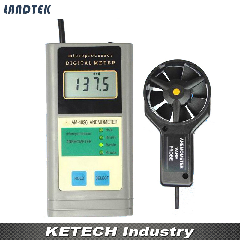 AM-4826 Digital Multifunctional Air Flow Speed Anemometer
