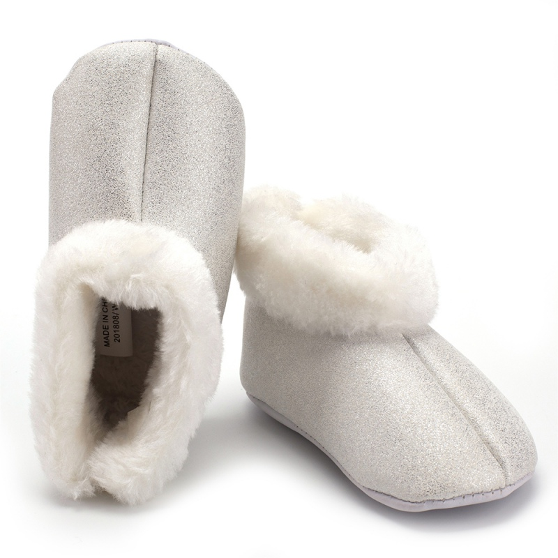 Winter Snow Boots Baby Girl PU Fur Design Boots Casual Shoes Walkers Newborn Cute Non-slip Soft Sole Shoes