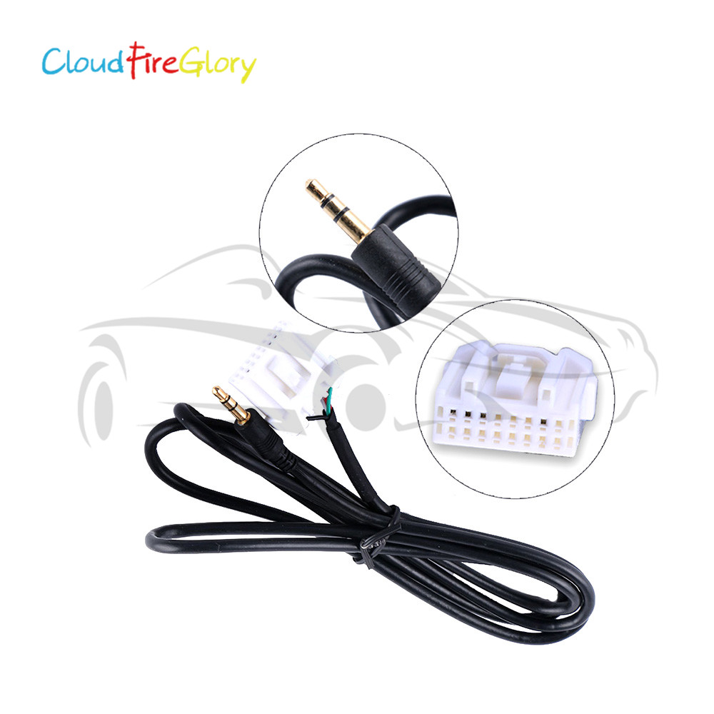 CloudFireGlory For Mazda 2 3 5 6 MX5 RX8 2006-2013 Car Accessories Interior 3.5mm AUX Audio Male Interface <font><b>Adapter</b></font> Cable image