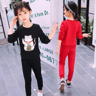 3b1be7badf8 2018 νέα κορίτσια παιδικά ρούχα φορούν κοστούμια μεγάλα παιδιά ...
