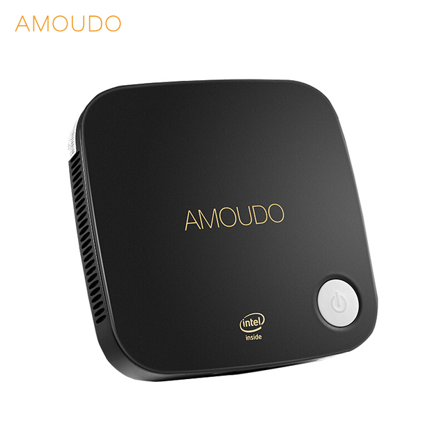 AMOUDO HX2 Intel Core i5-4200U 8GB RAM+256GB SSD+1TB HDD Windows 10 Pro System Ultrathin Mini PC i5 for Office Home School
