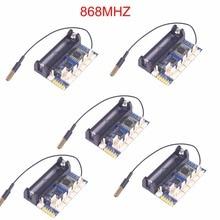 5PCS 868mhz LoRa Radio Node V1.0 IOT Wireless Transmission Lora Module RFM95 SX1276 for Arduino ATmega328P 3.7-12V uFL Antenna
