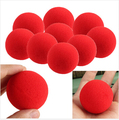 10pcs/lot high quality New Fashion Close-Up Magic Sponge Ball Brand Street Classical Comedy Trick Soft Red Sponge Ball