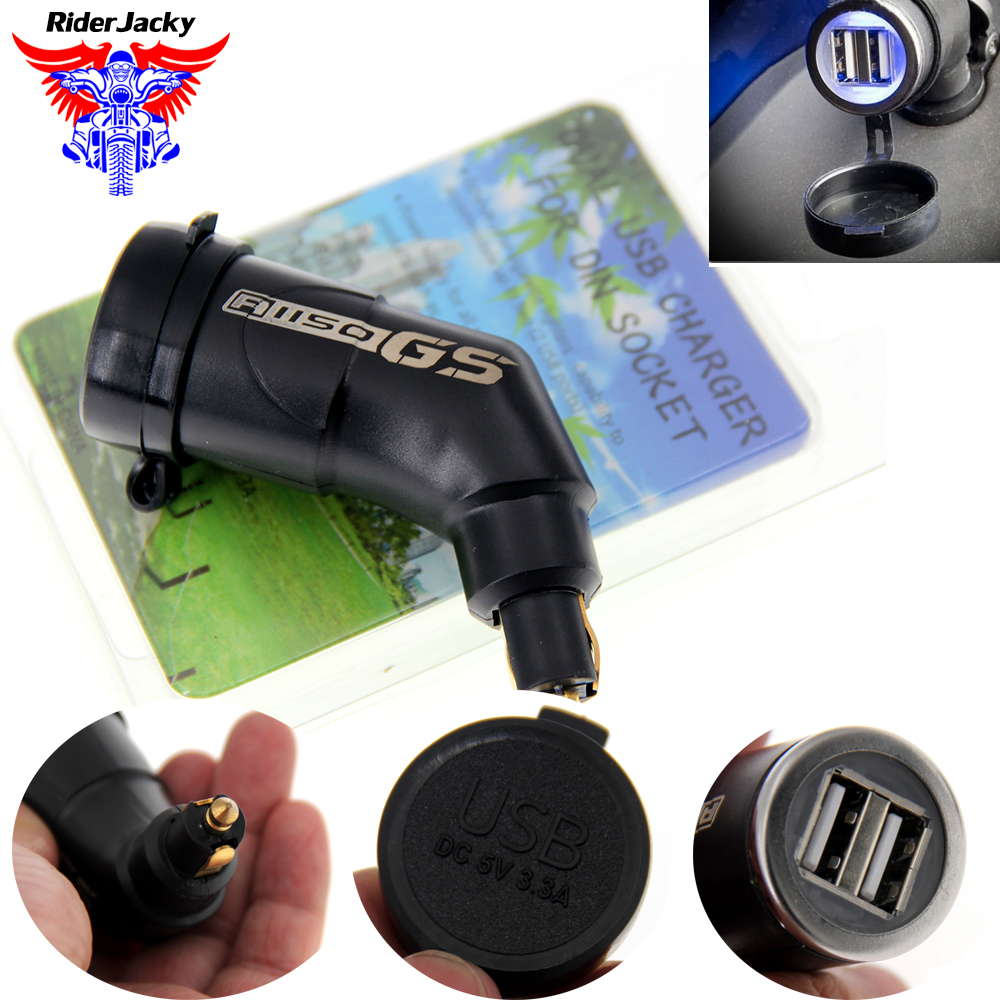 Adjustable Dual USB interface Port Charger Adapter For BMW R1150GS R1200GS S1000RR S1000R F800R F800GS HP4 K1200R R1200 GS image
