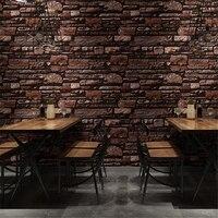 beibehang High grad Nostalgic marble industrial brick imitation brick wallpaper restaurant bar barber shop retro brick wallpaper