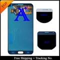 Frete Grátis 100% testado Original Para Samsung Galaxy E7 E7000 LCD Screen Display LCD Digitador Assembléia-Preto/Branco/ouro