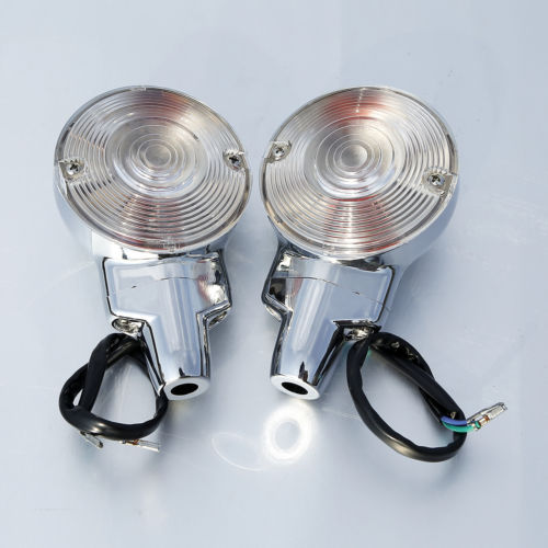 Free shipping Front Turn Signal Lights For Harley Touring Electra Road Glide King Softail FLSTC Heritage 01-17 free shipping new front fender tip light red lens for flstc heritage softail classic electra glide