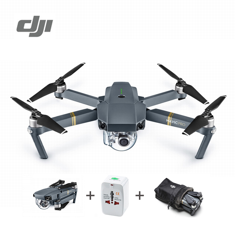 DJI Mavic Pro Camera Drone 1080P with 4K Video RC Helicopter FPV Quadcopter Standard Package Official Authorized Distributer travel aluminum blue dji mavic pro storage bag case box suitcase for drone battery remote controller accessories