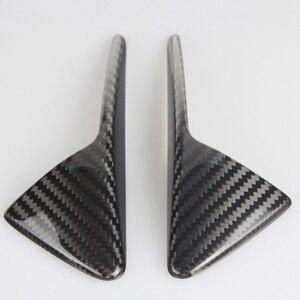 Image 2 - Seite Kamera Kotflügel Marker Schutz Deckt für Tesla modell 3 S X 2013 2019 Real Carbon Fiber Dekorative Zubehör