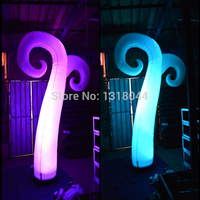 High Quality Colorful Inflatable Lighted Wedding Decoration Roman Columns