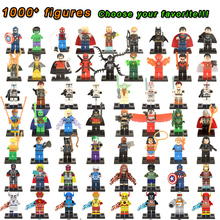 Super Heroes Marvel Figures Captain American The Hulk Spiderman Iron Man LEGOINGLYS Building Blocks Mini Bricks