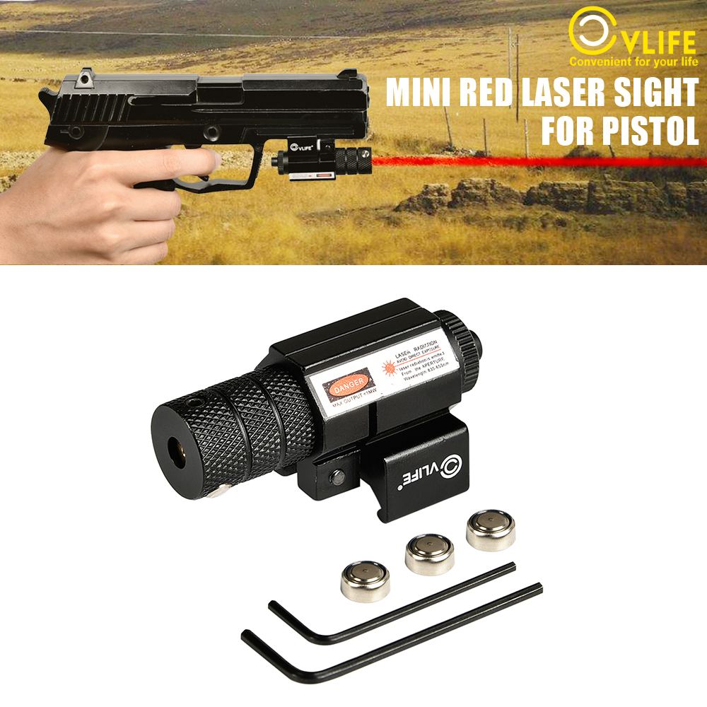 Hunting Tactical Red Laser Lazer Beam Dot Lazer Sight Scope Gun Rifle Pistol