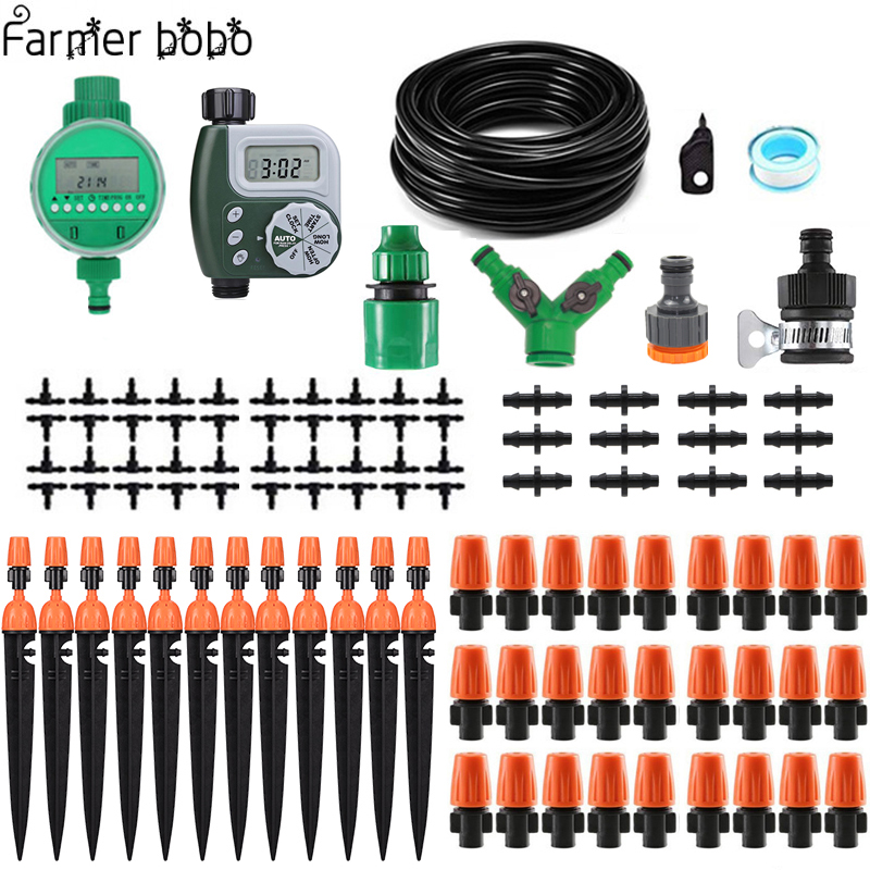 30m Automatic Micro Drip Irrigation System Garden Irrigation Spray Self Watering Kits With Adjustable Dripper