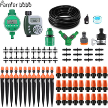 30m Automatic Micro Drip Irrigation System Garden Spray Self Watering Kits with Adjustable Dripper