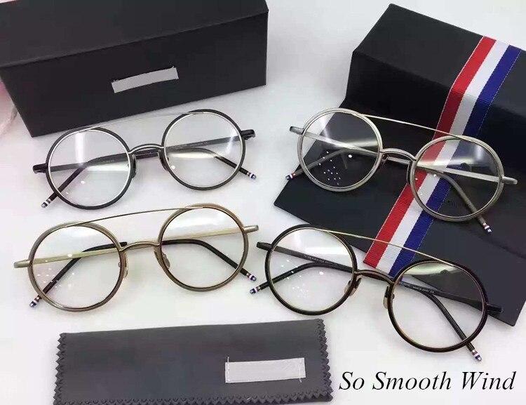 New York Rétro Rond Lunettes B108 Optique Transparent Prescription Lunettes Cadre pour Hommes Femmes oculos de grau