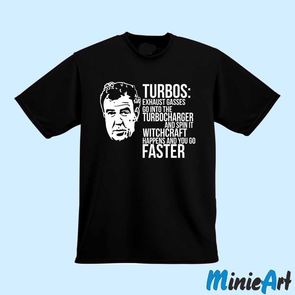 for tall and big men Turbocharger Turbo Boost gift Jeremy Clarkson gift plain T shirts Short Sleeve Men T shirt Tops Summer