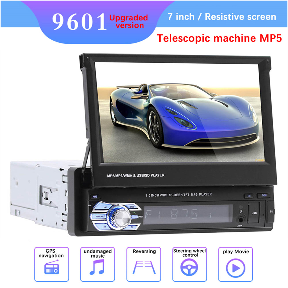 """9601 7"""" HD Touch Screen Universal Car Bluetooth MP4 MP5 Player Navigation FM Radio U Disk/AUX/SD Card Playback Rearview Mirror-in Car MP4 & MP5 Players from Automobiles & Motorcycles"""