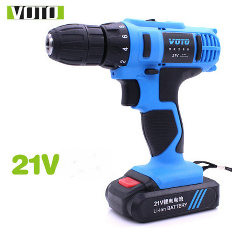 VOTO 21V 680W Rechargable Electric Drill Power Supply Lithium Ion Battery Cordless Drill Driver Power Drill voto universal 21v max li ion lithium rechargeable battery with flat push type for electric drill electric screwdriver