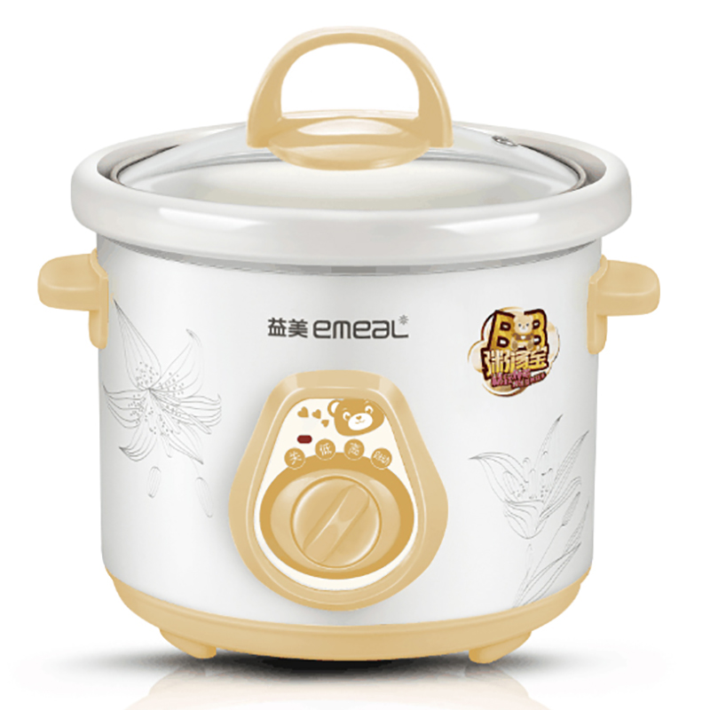 YM-A10 White Porcelain Electric Cooker Mini Bb Soup Stew Cup Baby Porridge Ceramics Porridge Pot cukyi household 3 0l electric multifunctional cooker microcomputer stew soup timing ceramic porridge pot 500w black