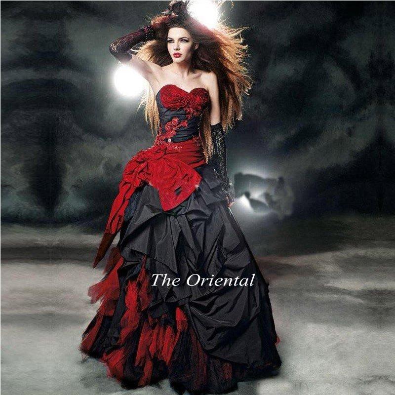 Popular Black Corset Wedding Dress-Buy Cheap Black Corset Wedding ...