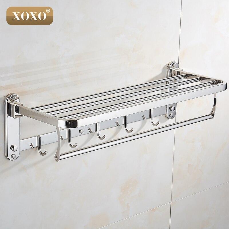 XOXO New product wall installation folding 304 stainless steel bathroom accessories bathroom towel rack 1068