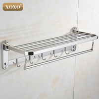 XOXO New product wall installation folding 304 stainless steel bathroom accessories, bathroom towel rack 1068