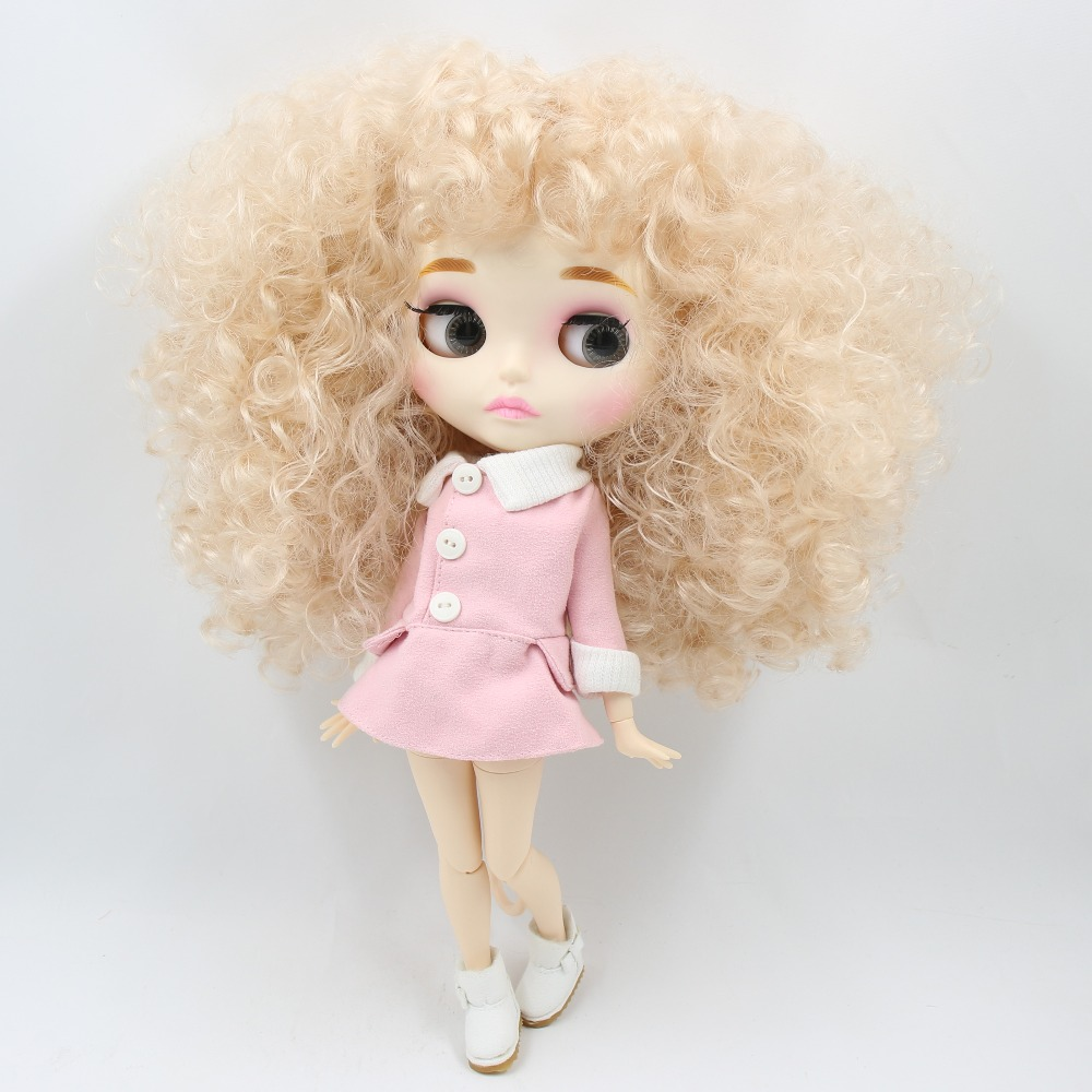 factory blyth doll BL3139 Blonde afro hair Carved lips Mate face with eyebrow Joint body 1/6 bjd подвесной светильник feron 6205 11071