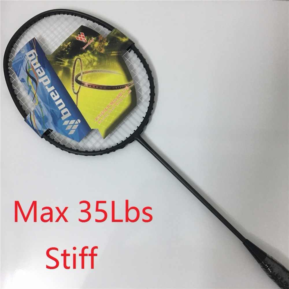 6U max 35Lbs badminton racket stiff shaft light badminton racquet carbono prestrung jetspeed racket badminton brave sword