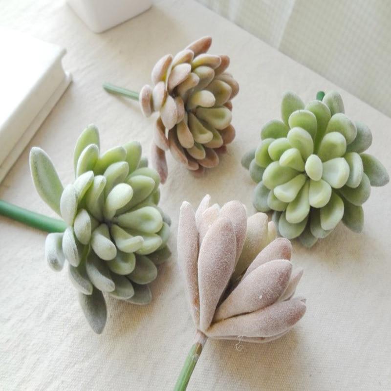 2pcs simulation of Succulents plants jewel artificial plants for decoration plants artificial wholesale flower