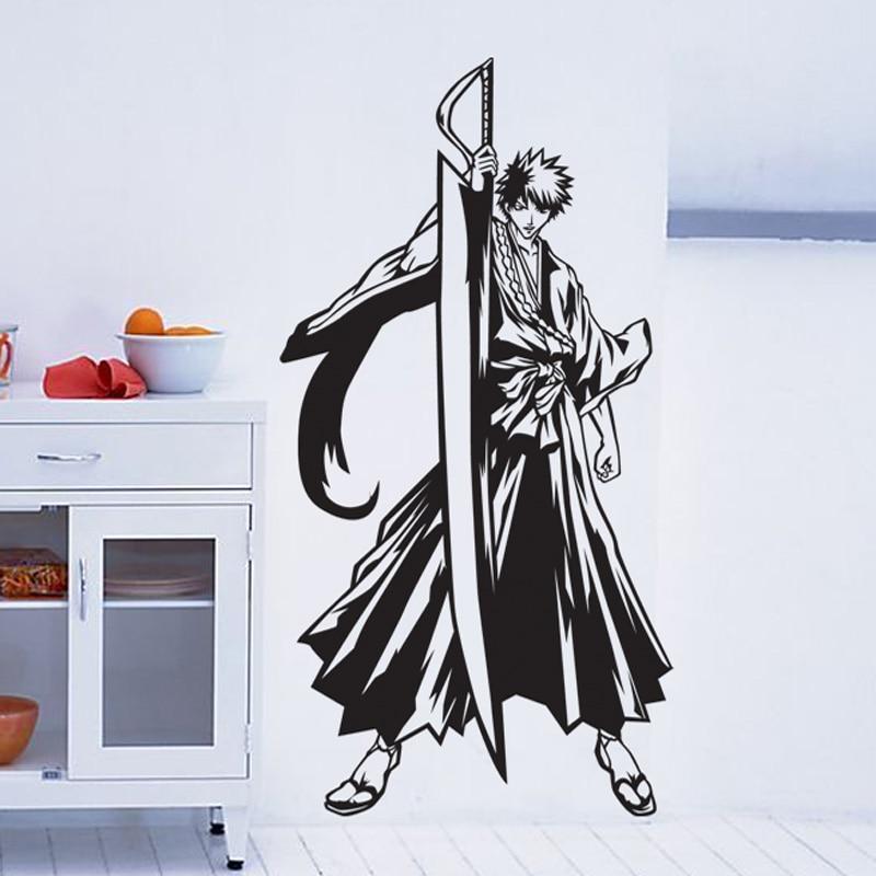 DCTAL Candeggina Adesivi Murali Cartone Animato Giapponese - Home decor